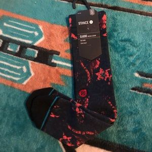 Abstract Floral Stance Athletic Socks